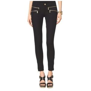 MICHAEL KORS Black Skinny Leg Trousers Low Rise